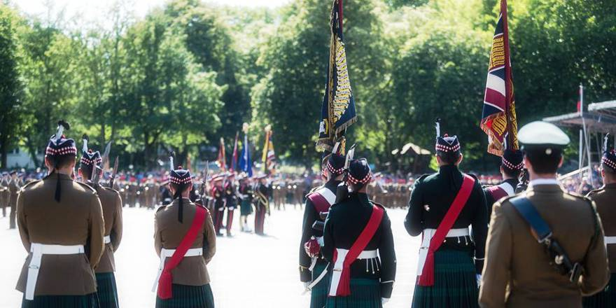 British Army Royal Regiment of Scotland, 4th Battalion, Freedom of Paderborn Parade, 29 June 2018 (Army Press Office, Crown Copyright, 2018)[880]
