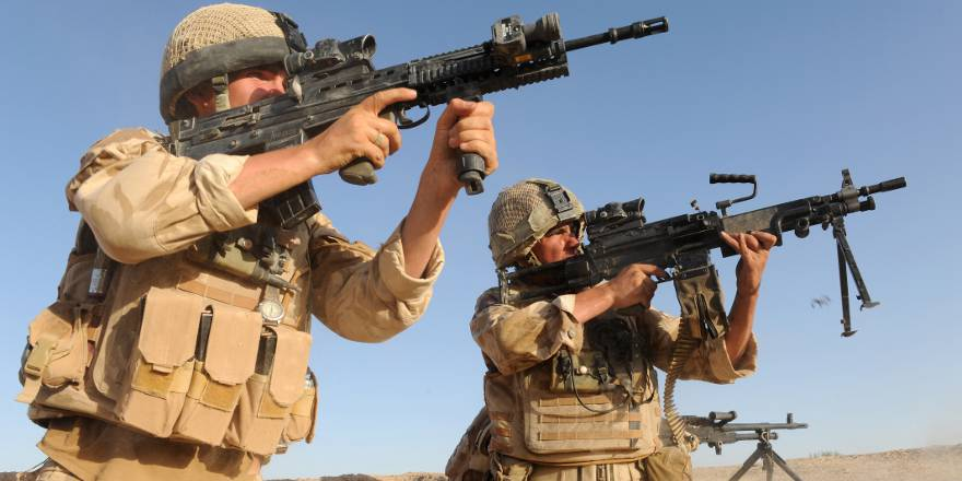 British Army Welsh Guards on Op HERRICK in Afghanistan (Crown Copyright, 2009)