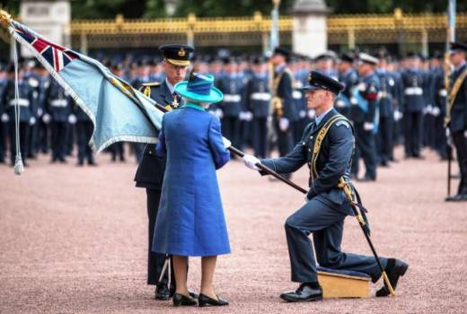 RAF Colours, HM the Queen presents new colours for RAF100, London (Crown Copyright, 2018)