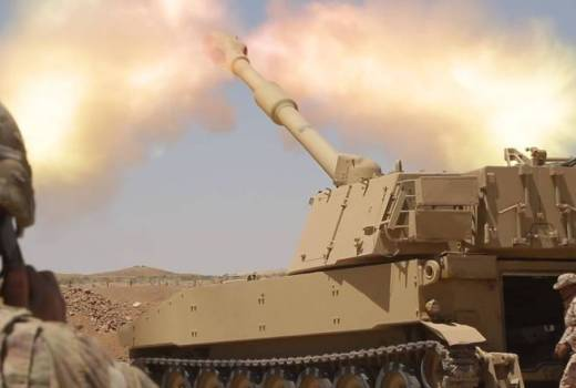 Iraqi Security Forces (ISF) firing M109A6 Paladin Self-Propelled Howitzer, June 19, 2018 (DIVIDS) [880]