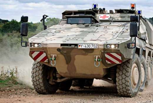 British Army Boxer Armoured Fighting Vehicle at DVD2018 (Crown Copyright, 2018)
