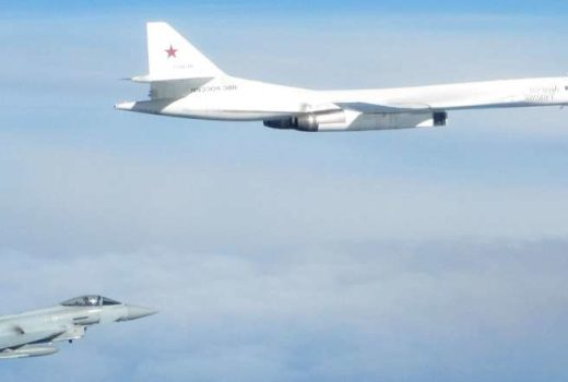 RAF Typhoon from RAF Lossiemouth QRA intercepts Russian Blackjack bomber (Crown Copyright, 2018) [880] [news]