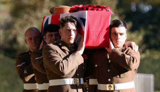 British Army Royal Regiment of Fusiliers Burying Party for WWI Unknown Soldier (Crown Copyright, 2018)