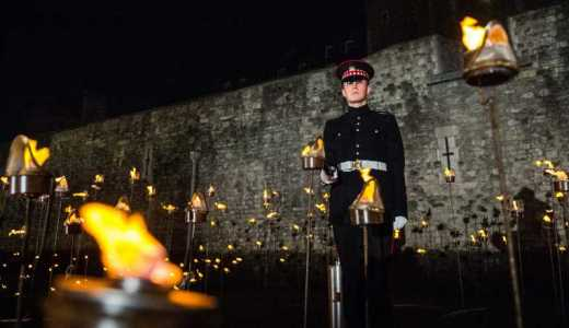 British Army Scots Guards F Coy, Tower of London WWI Commemorations (Crown Copyright, 2018) [880]