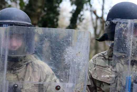 British Army The London Regiment (LONDONS) Army Reservists public order (riot) training (Crown Copyright, 2014) - Reservists Call-Out Order for No Deal Brexit