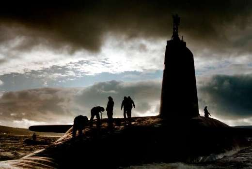 Royal Navy HMS Victorious nuclear submarine Trident Continuous-At-Sea Deterrent CASD50 (Crown Copyright, 1995)