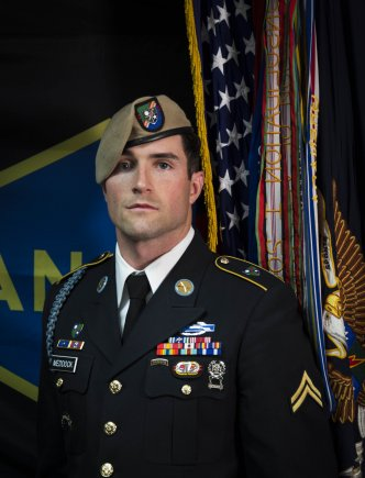 US Army Ranger, 75th Ranger Regiment, Sgt Cameron A Meddock died of wounds after Afghanistan combat operation (US Army, 2018)