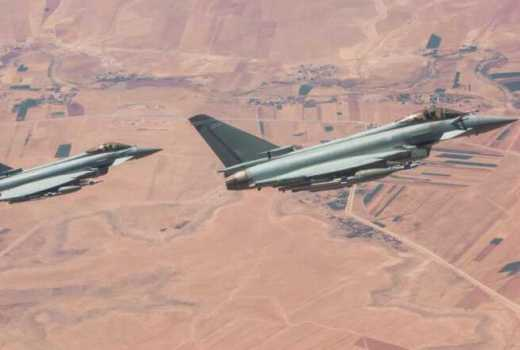 RAF Typhoons 83 EAG on Op SHADER Syria fire Brimstone (Crown Copyright, 2017)