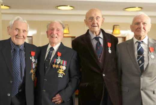 Royal Navy HMS Belfast D-Day veterans receive Legion d'honneur (Crown Copyright, 2019)