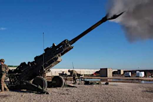 US Army 32nd Field Artillery Regiment, 101st Airborne Division fire an M777A2 howitzer Western Iraq, Feb 06, 2019 Op Inherent Resolve (DVIDS, 2019)