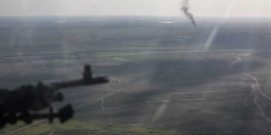 US Army CJTF-OIR against ISIS view from helicopter, USCENTCOM, 4 March 2019