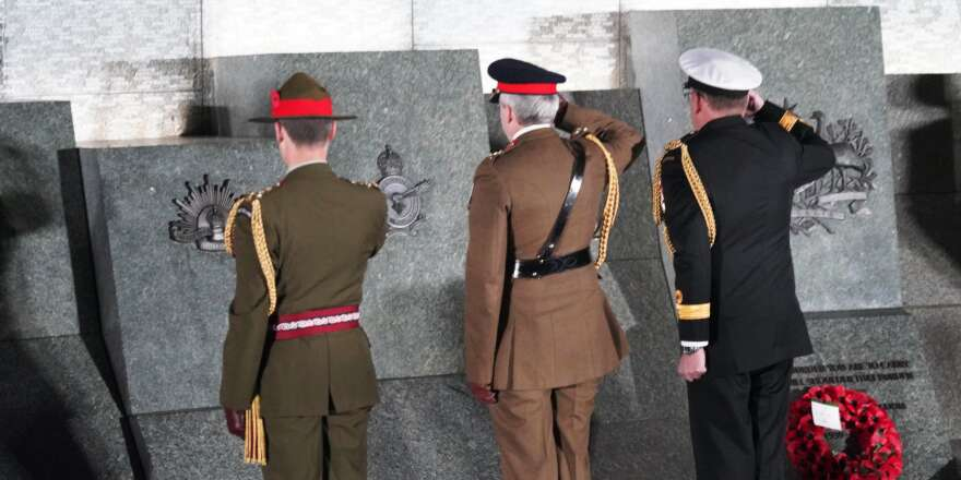 ANZACs Remembered at the Cenotaph
