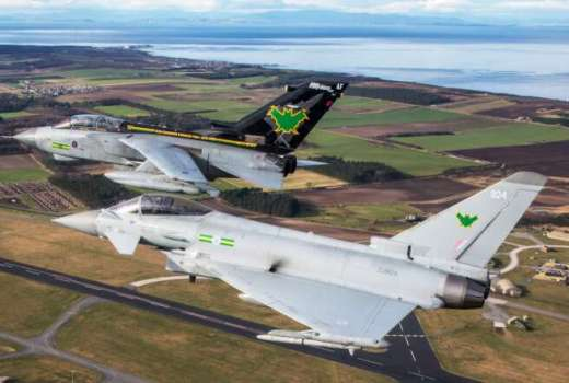 RAF Tornado and Typhoon over RAF Lossiemouth (Crown Copyright, 2019, News)[880]
