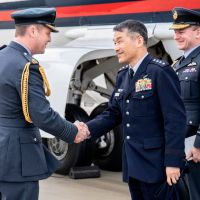RAF Chief and Japan Chief visit RAF Marham