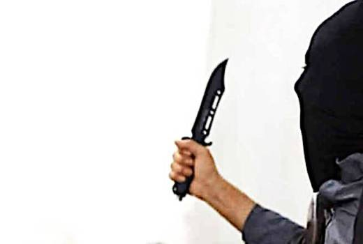 ISIS Islamic terrorist with knife