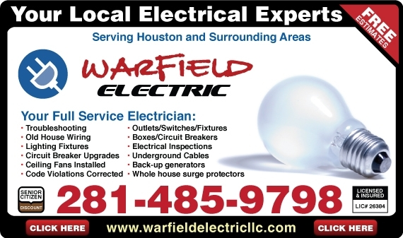 Pearland Electrician  Friendswood Electrician  Clear Lake Electrician  Residential  Commercial
