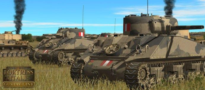 Combat Mission Fortress Italy - Gustav Line - new-british-sherman-5