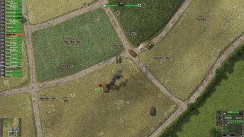 Les Panzer IV et Stug III allemands en position défensive sur la colline 113.