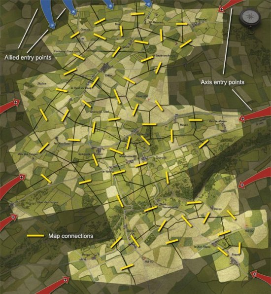 close-combat-gateway-caen-02-Campaign-Map