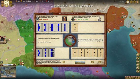 Prince Eugene's Habsburg army is offering battle, a plan must be devised