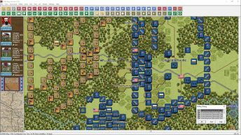 This shot, from Chancellorsville, shows the new alternative 2D unit graphics as well as the new 'natural' zoom level