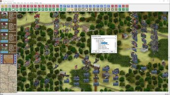 This capture is from one of the Chancellorsville campaign scenarios and shows more of the details in the 3D units. Note the variation in flags and unit banners;