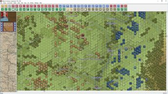 This image from Antietam is at the mid level 2D zoom with the equivalent new unit graphics;