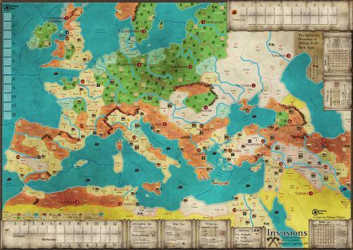 Invasions : Volume I – 350-650 AD - carte