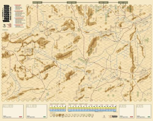 Kasserine: Rommel's Last Chance, Designer Signature Edition map
