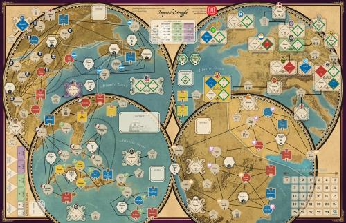Imperial Struggle GMT - map