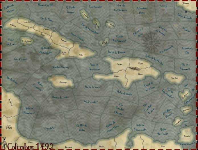 Wars Across the World - Columbus 1492 - carte