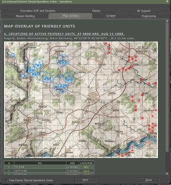Ops Report - Map Overlay of unit positions