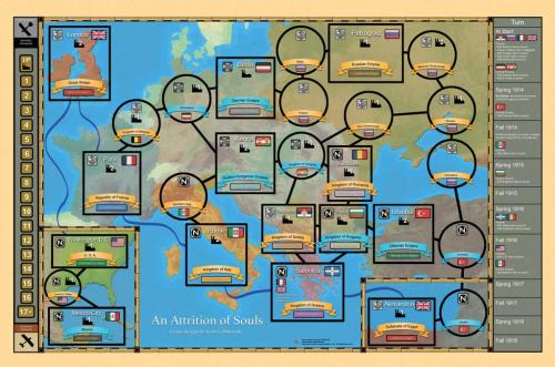 An Attrition of Souls - Compass Games - map