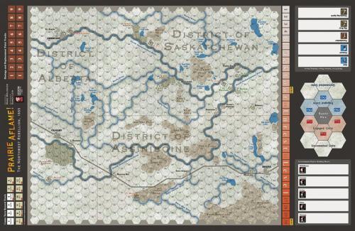 Prairie Aflame! - map