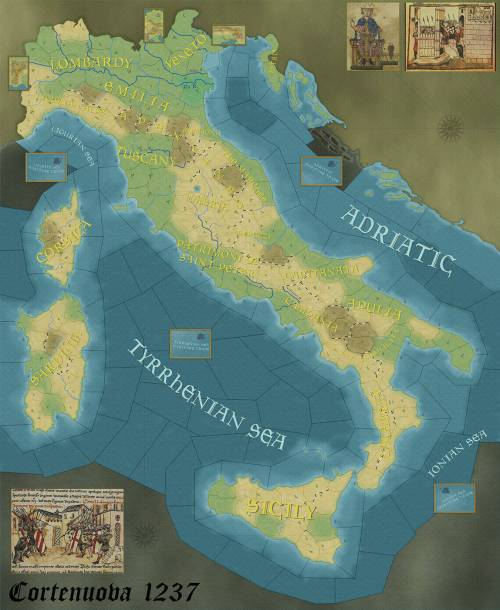 Wars Across The World - Cortenuova 1237 - map
