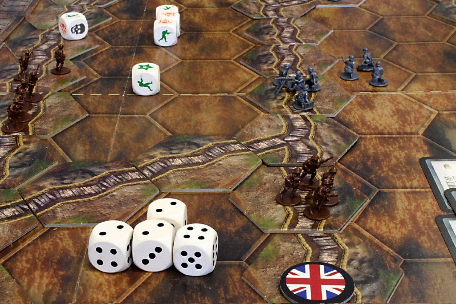 A 'Great War' game under way.