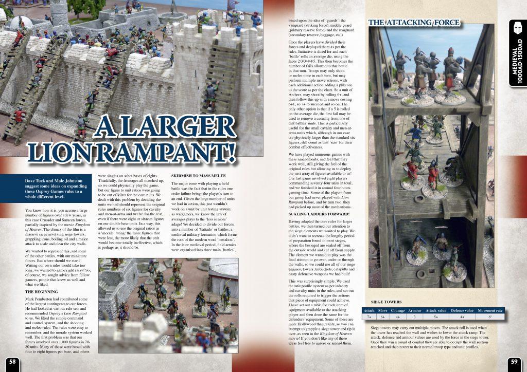 Wargames Illustrated | A LARGER LION RAMPANT