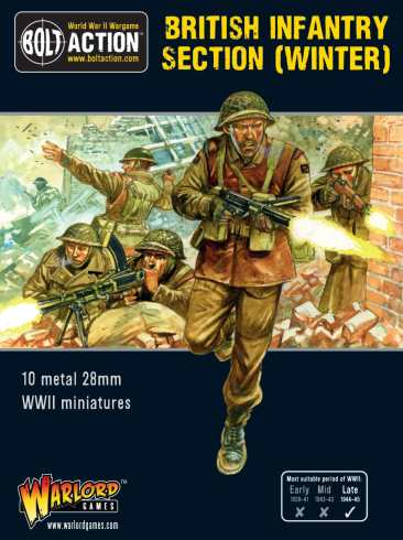 Bolt Action British Infantry Section (Winter) Cover