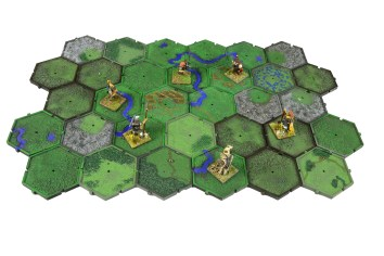 The Games Workshop plastic Mighty Empires hexes.