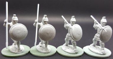 Libyan Spearmen Attacking