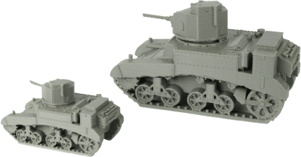 M3 Stuart Light Tank 28mm & 15mm