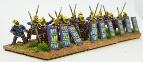 Kardakes with laminar armour converted with Essex Immortals shields to make Bob's Persian Immortals