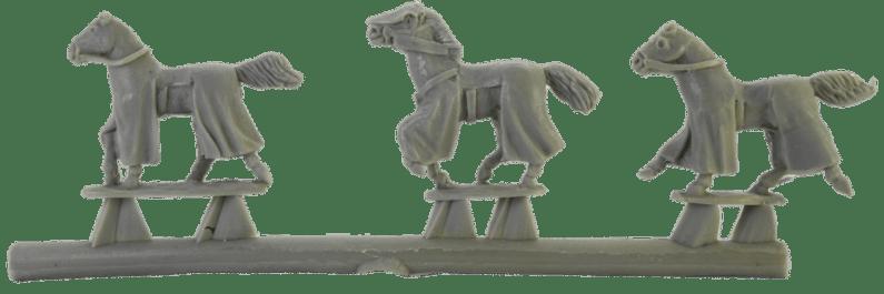 3 mountable Horses