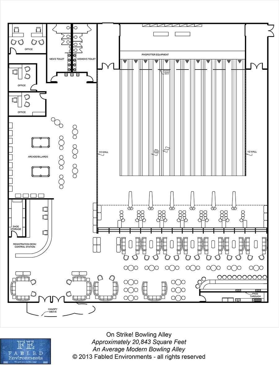 medium resolution of modern floorplans an average modern bowling alley fabled environments modern floorplans wargame vault