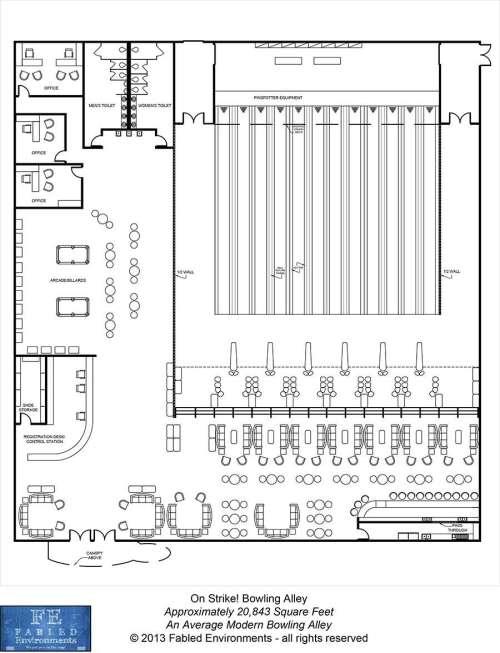small resolution of modern floorplans an average modern bowling alley fabled environments modern floorplans wargame vault