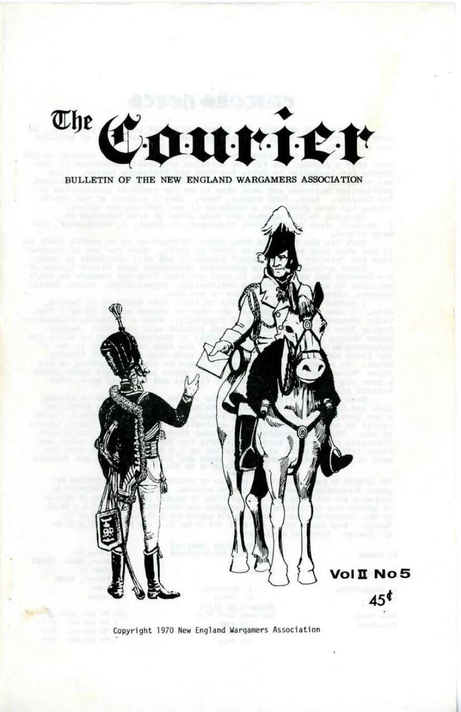 The Courier: Bulletin of the New England Wargamers