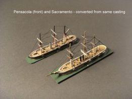 HSS52 USS Pensacola; USS Sacramento