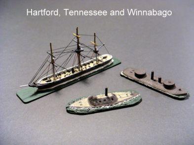HSS44 USS Winnebago; HSS62 USS Hartford; HSS71 CSS Tennessee