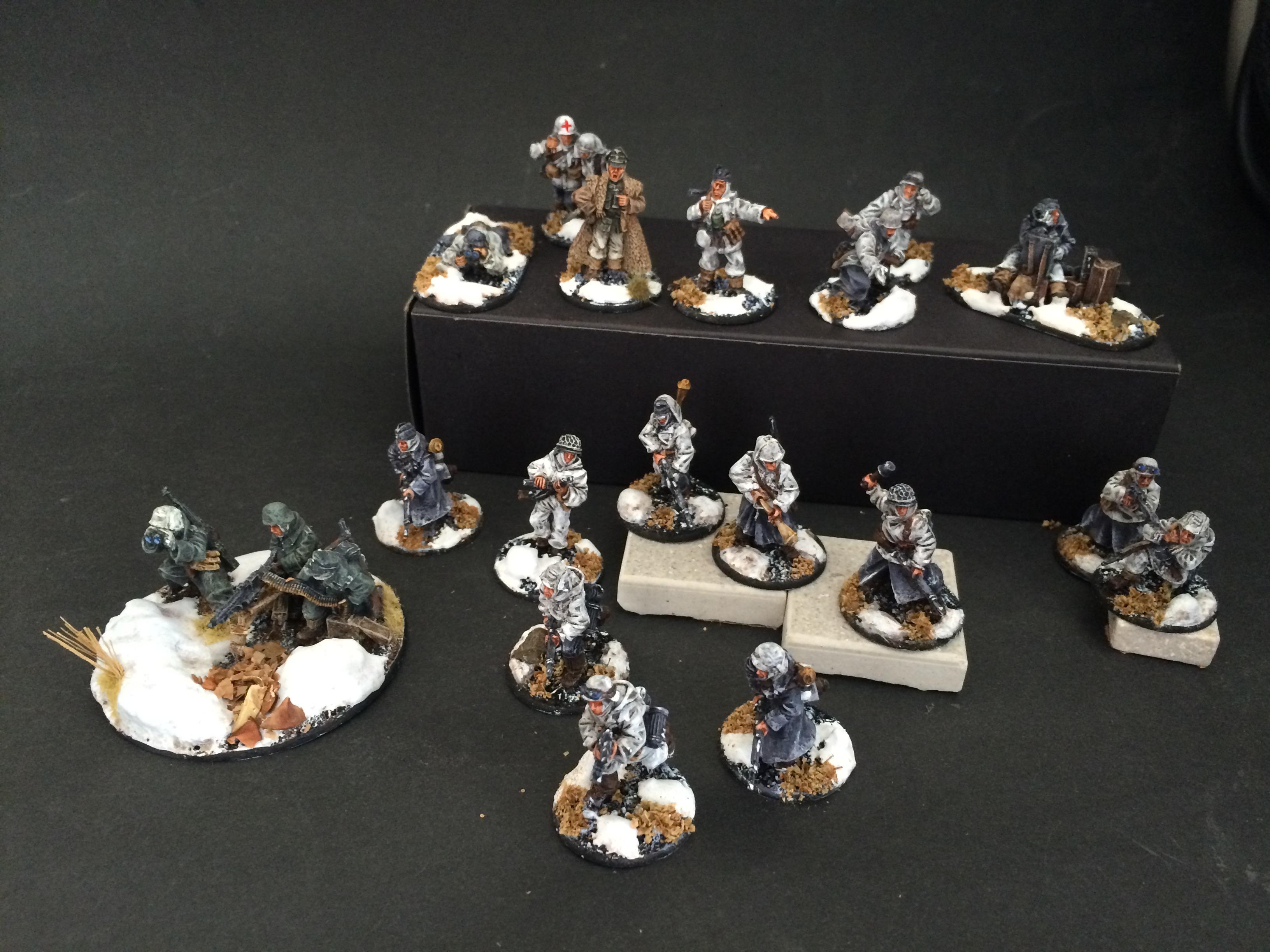 Miniaturas de la Segunda Guerra Mundial para Bolt Action pintadas