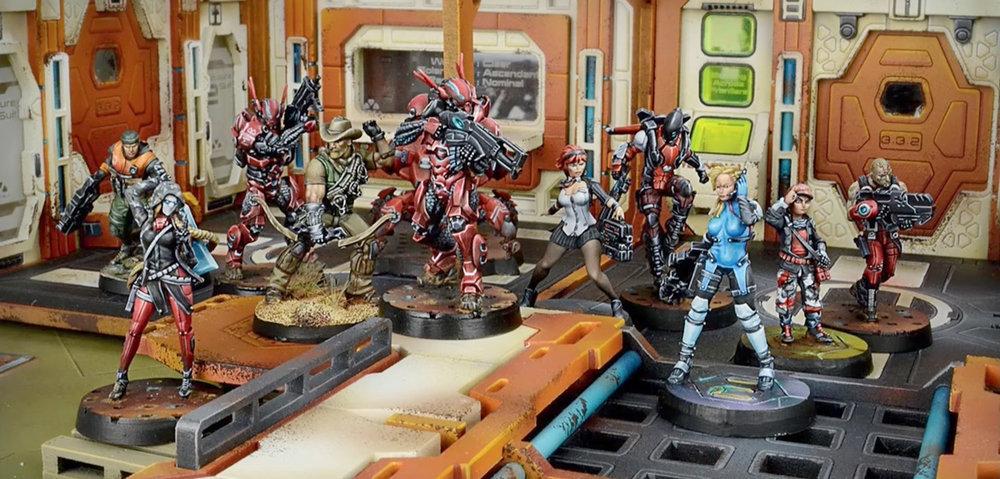 Muestra del Ejército StarCo Compañía Libre de la Estrella, Infinity Juego de miniaturas